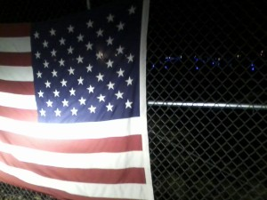 Flag Saluting our Deploying Troops at Pease Air Force Reserved Base