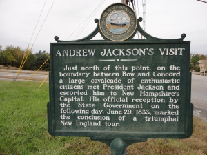 Andrew Jackson Visits New Hampshire