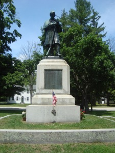 Solider Monument watching over Amherst Village Green