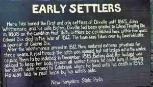 Dixville Notch Early Settlers