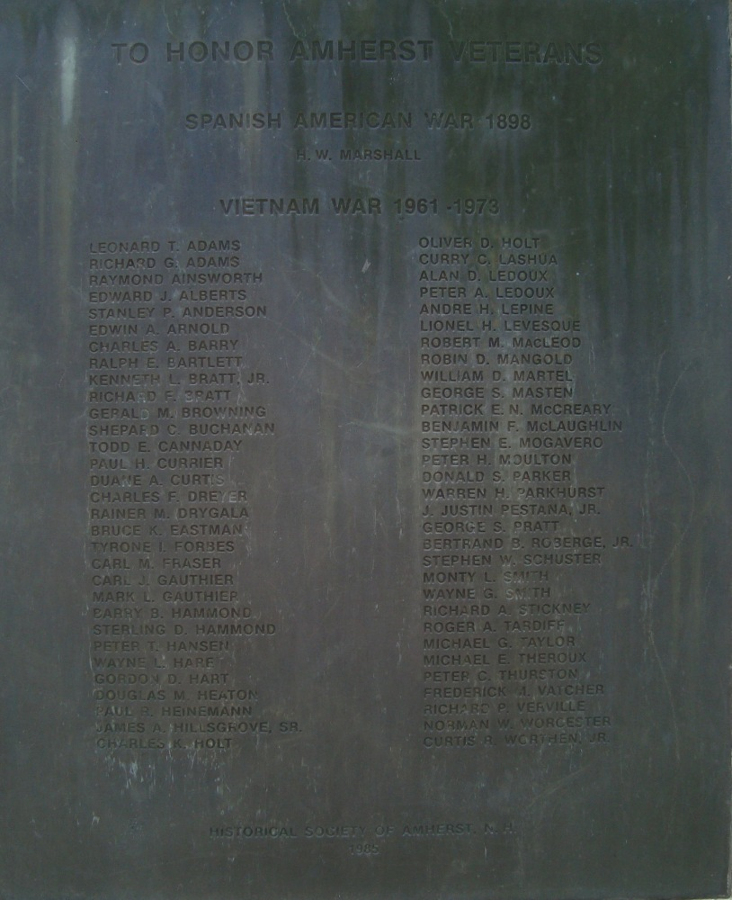 Military Honor Roll Monday: Amherst, New Hampshire Part II (3/5)