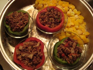 Stuffed Peppers and Squash