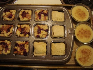 Ready to bake bread pudding