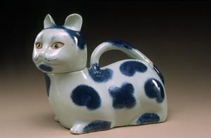 Ceramic Cat Urinal Medical Equipment in the 1800's