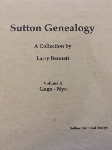 Sutton Genealogy Collection Vol II Gage - Nye
