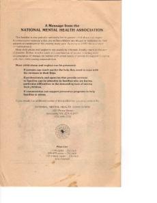 Mental Health America (National Mental Health Association)