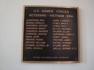 Vietnam War Memorial Sutton, New hampshire