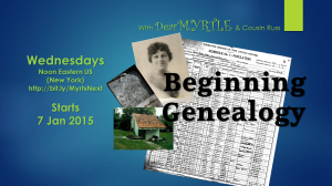 Beginning Genealogy Graphics