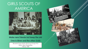 Girls Scouts from Derry, New Hampshire 1986-1989