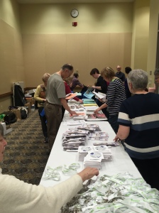 NERGC volunteers almost done packing the Goodie bags. Thank you all.  — with Kathleen Hrenko-Rubano , Karen Trearchis, Patricia Stano-Carpenter, Dian Brooks-Sherry Dick Roberts, and Jeff Carpenter.