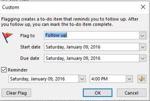 Add Remider Custom Box Date Choices