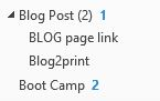 Blog Post drop down menu