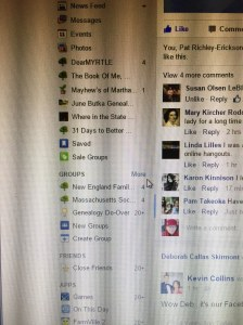 My Facebook Home Page