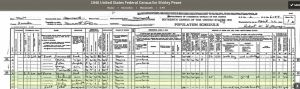 1940 US Census Monmouth, Maine