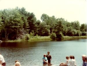 Shirley 1984 baptism, Kezar Falls, Maine