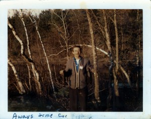 Nelson loved to fish circa 1970