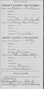 Abbey Sarah A b1846 marriage page2