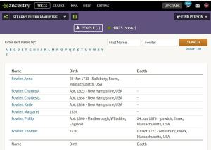 Ancestry Fowler Search